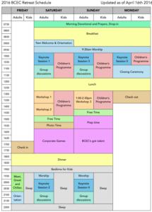 2016 BCEC Retreat Schedule portrait IMG
