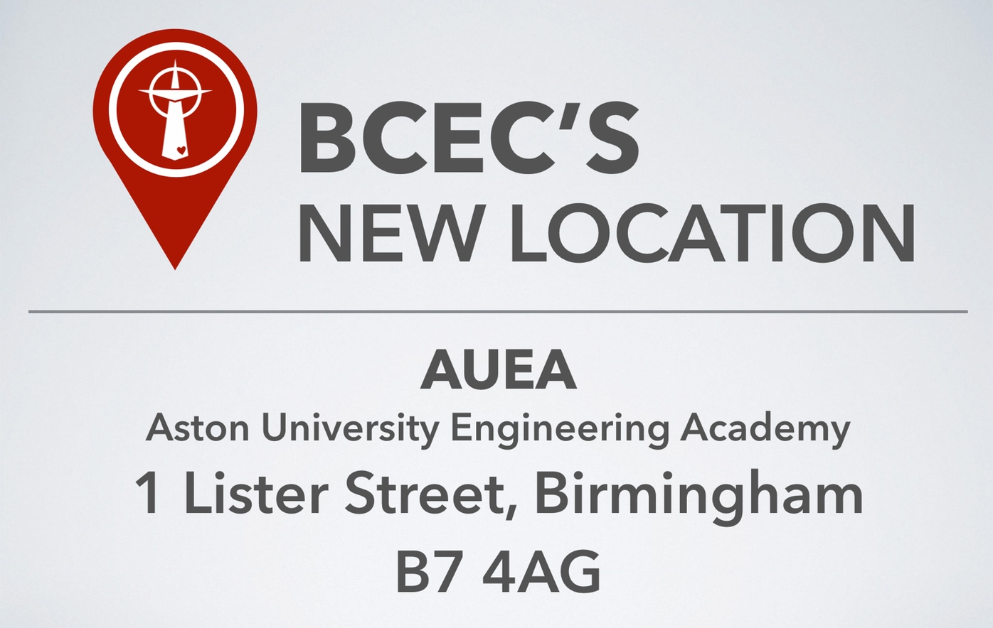 BCEC'S NEW LOCATION